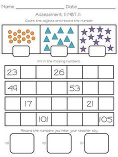 Numbers to 120 {Activities and Assessments}! Great pack for Teaching First Grade, 1st Grade Math, Teaching Math, Teaching Ideas, Math Resources, Math Activities, Math Games, School Fun, School Stuff
