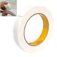 Potente de alta Calidad Adhesiva de Doble Cara Cinta de Espuma de Doble Cara Cinta De 18mm x 1mm x 5 M Color blanco