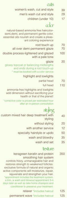 Hair Extension Price List  Advertising    Hair