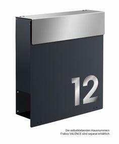 Frabox Design Briefkasten NAMUR Anthrazitgrau / Edelstahl von frabox - MK-DB1020-VA-AT-GLAENx online kaufen in unserem Shop   www.bruh.de