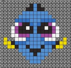 first pixel art bead pattern. Inspired by My first pixel art bead pattern. -My first pixel art bead pattern. Easy Perler Bead Patterns, Melty Bead Patterns, Perler Bead Templates, Diy Perler Beads, Perler Bead Art, Beading Patterns, Cross Stitch Patterns, Pearler Beads, Pearl Beads Pattern