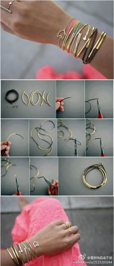 DIY Beautiful Wire Bracelet