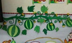 Classroom Board, Class Decoration, Projects To Try, Creative, Green, Cards, Education, School, Schools
