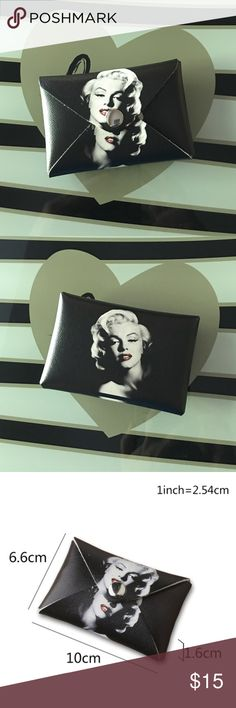 💋New Coin/ Credit Card Pouch Super cute Marilyn coin, money, credit card pouch. High quality durable material, gorgeous Marilyn print on front and back, snap closure. New in package ❤ Bags Wallets