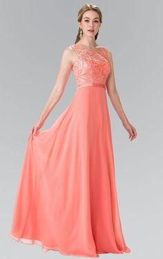 5d43ea291e2c Floor Length Beauty Chiffon scoop neck long sleeveless Bridesmaid dress in  7 colors