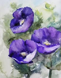 Check out this item in my Etsy shop https://www.etsy.com/listing/619988865/purple-poppies-original-watercolor