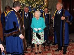 The Queen was at Drapers' Hall to attend a lunch, and was welcomed by the 684th Lord Mayor...