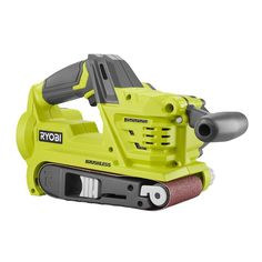 Ryobi ONE Cordless Brushless Belt Sander (Bare-Tool) with Dust Bag and 80 Grit Sanding - The Home Depot Best Belt Sander, 80 Grit Sandpaper, Best Random Orbital Sander, Ryobi Tools, Electronic Recycling, Recycling Programs, Cordless Drill, Ryobi Cordless Tools, Home Improvement Projects