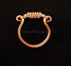 Double Wrapped Copper Wire Omega Ring, size 8 1/2, $20