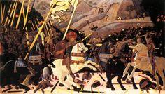 paolo uccello la batalla de san romano - parte del tríptico (Quattrocento)