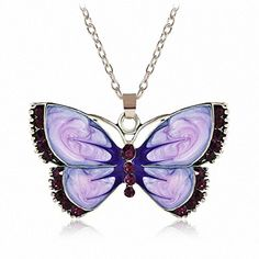 ERAWAN Womens Fashion Jewelry Enamel Butterfly Crystal Silver Pendant Necklace Chain EW sakcharn ** Wonderful of your presence to have dropped by to see our image. (This is an affiliate link) Moon Jewelry, Crystal Jewelry, Jewelry Necklaces, Crystal Pendant, Jewellery, Chain Jewelry, Diy Jewelry, Jewelry Watches, Silver Pendant Necklace