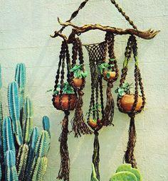 macrame plant hanger chandelier