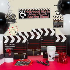 Lights, Camera, Action Theme Party Planning, Ideas & Supplies