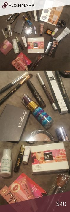 Beauty build-a-bundle All brand new Full and sample sizes Various brands Perfume  Brushes Lotion Ect Buy it all or create your own bundle Each bundle comes in a makeup bag Feel free to ask any questions you may have. tarte Makeup
