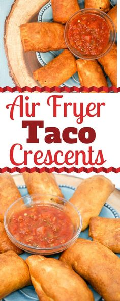 apero dinatoire rapide facile Air Fryer Cheesy Taco Crescents are a quick and easy dinner that have a cheesy surprise inside. They cook up crispy in the Air Fryer in just m Air Fryer Recipes Meat, Air Fryer Recipes Breakfast, Air Frier Recipes, Air Fryer Dinner Recipes, Deep Fryer Recipes, Air Fryer Recipes Appetizers, Crescent Recipes, Think Food, Mexican Food Recipes