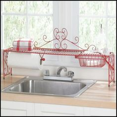 Kitchen Wrought Iron Over The Sink Shelf