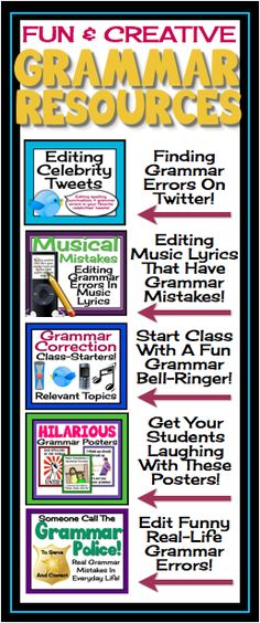 Make grammar FUN for your students with this 200+ page grammar bundle!