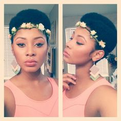 mynaturalsistas on Tumblr  Love pretty much everything about her look, especially the geometric earrings