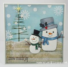 Snowy Christmas by yorkshire lass - Cards and Paper Crafts at Splitcoaststampers