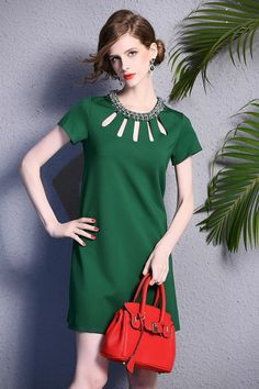 Fashion Green Summer Casual Dress by Enice from Enice Fashion by DaWanda.com