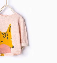 Image 1 of Fox T-shirt from Zara