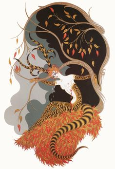 Erté - AUTUMN from the Seasons Suite