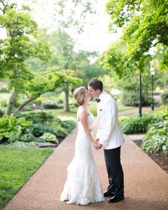 Courtney And Michael's Garden Party Wedding In St. Louis - An Outfit Change
