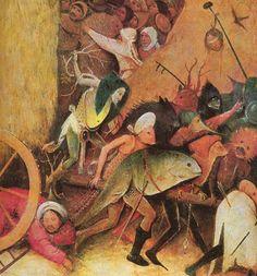 """BOSCH Hieronymus: Triptyque """"Le chariot de foin"""", panneau central, détail."""