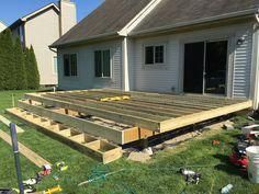 How To Build A Floating Deck Rogue Engineer Floating Deck Plans Building A Floating Deck Deck Building Plans
