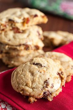 Sour Cherry White Chocolate Chunk Cookies