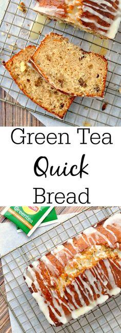 Green Tea Infused Quick Bread #LiptonTeaTime #sponsored