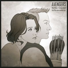"For my friend Silvera ________________________________________________________________ Black Widow and Hawkeye of the movie ""The Avengers"" belong to Mar. Black_Widow_x_Hawkeye____Sketch Marvel Fan, Marvel Heroes, Clintasha, Avengers Art, Superhero Villains, Clint Barton, Natasha Romanoff, Fun Comics, Hawkeye"