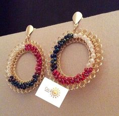 Wire Crochet, Diy Jewelry Inspiration, Chainmaille, Crochet Accessories, Jewerly, Jewelry Design, Drop Earrings, Silk, Beads