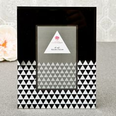 Geometric Glass Picture Frame
