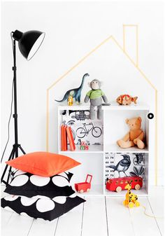 washi tape dolls house by Frida Ramstedt