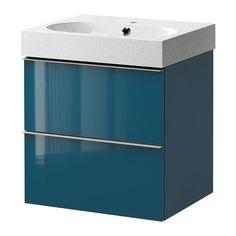 IKEA - GODMORGON/BRÅVIKEN, Meuble lavabo 2tir, brillant turquoise/gris clair, , Garantie 10 ans gratuite. Détails des conditions disponibles en magasin ou sur internet.Tiroirs faciles à ouvrir avec arrêt.Vous pouvez facilement personnaliser la taille du casier en déplaçant le séparateur.Les tiroirs s'ouvrent entièrement pour une bonne visibilité et un  accès au contenu plus aisé.Tiroir en bois massif, avec fond en mélamine résistant aux rayures.Le siphon inclus est flexible et donc facile à…