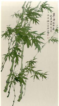 Korean Painting, Japanese Painting, Chinese Painting, Ink Painting, Watercolor Art, Oriental Flowers, Bamboo Art, Japanese Drawings, Samurai Art