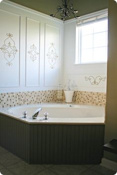 Paint tub surround and add tile