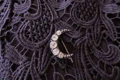 Vintage Victorian Sterling Paste Moon Pin/Vintage Crecent Moon Pin/Victorian Pin by UnexpectedBeginnings on Etsy