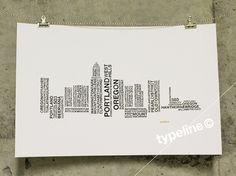 Portland Skyline - City Skyline - Typography - Print - 11x17 on Etsy, $27.00