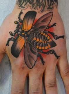 peter lagergren insect traditional tattoo