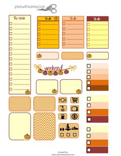 Plan with samia | Fall Stickers - Freebie Friday