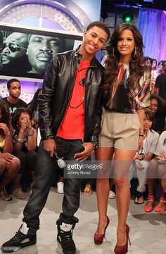 Recording artist Diggy Simmons visits BET's '106 & Park' with host Rocsi at BET Studios on August 17, 2011 in New York City.