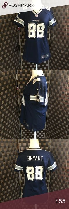 Dez Bryant Womens Jersey Official NFL Nike Jersey #88 Dez Bryant in excellent condition. Only worn once during a game and closet kept for safety. NFL Tops