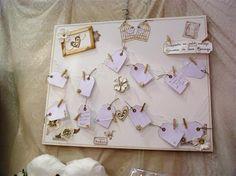Livre d'or pour mariage en forme de tableau. Deco, Shape, Board, Decor, Deko, Decorating, Decoration