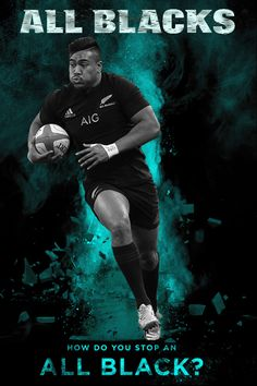 All Blacks rugby - Photo created by Gordon Tunstall using Adobe Photoshop