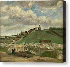 The Hill Of Montmartre Canvas Print by Vincent van Gogh
