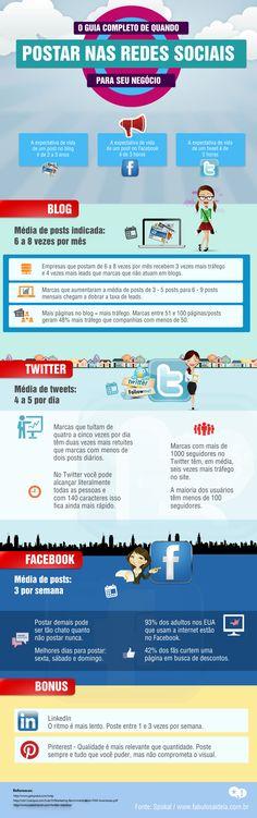 A frequência ideal para postar nas redes sociais de sua marca. | Fabulosa Ideia  #socialmedia #midiassociais #brasil #modernistablog