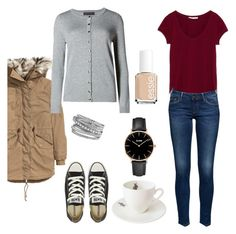szabo dori  by betti-nyilas on Polyvore featuring polyvore, fashion, style, M&S Collection, H&M, Converse, CLUSE, David Yurman, Essie and Outlandish Creations