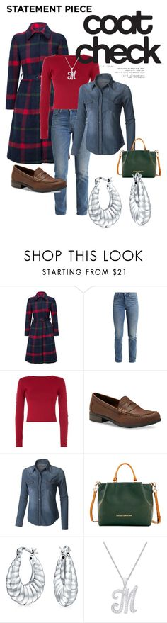 """""""Statement Coats: The 90's"""" by chandragarza ❤ liked on Polyvore featuring WithChic, Levi's, Eastland, LE3NO, Dooney & Bourke, Bling Jewelry and statementcoats"""